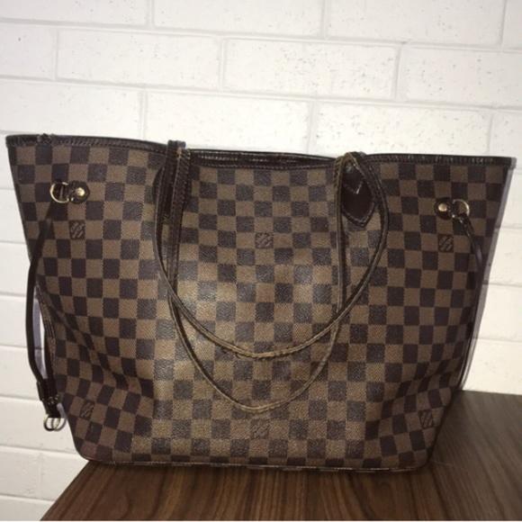 9e0c77b2bf0d Louis Vuitton Handbags - Louis Vuitton Neverfull MM Damier Ebene Tote